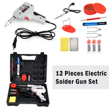 100W Soldering Gun Kit Heat-resistant ABS Hand Welding Tool Copper Core Quick Heating Electrical Soldering Iron Set Rework Stati