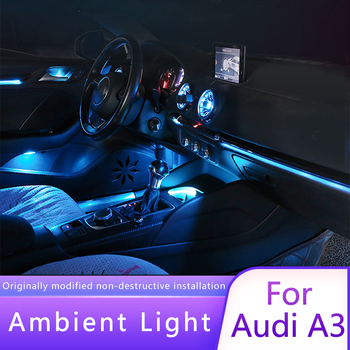 For Audi A3 modified special 21/32 color original atmosphere lamp A3 RS3 turbine lamp headlight outlet air atmosphere lamp