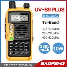 2021 Baofeng UV-S9 PLUS Tri-Band Dual Antenna Walkie Talkie VHF 136-174Mhz/220-260Mhz&UHF 400-520Mhz Ham Radio  Transceiver UV5R