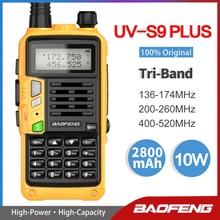 2021 Baofeng UV S9 PLUS Tri Band Dual Antenne Walkie Talkie VHF 136 174Mhz/220 260mhz & UHF 400 520Mhz Ham Radio Transceiver UV5R