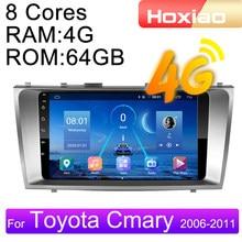 4g android 9 2din rádio do carro multimídia player de vídeo para toyota camry 40 2006 2007 2008 2009 2010 2011 navegação gps áudio 2 din