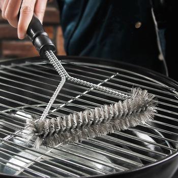 Akcesoria kuchenne Grill zestaw do grillowania szczotka do czyszczenia narzędzia kuchenne ze stali nierdzewnej gadżety do grilla akcesoria szczotki tanie i dobre opinie CN (pochodzenie) Szczotki czyszczące Łatwo czyszczone Odporność na ciepło Non-stick Metal STAINLESS STEEL Nie powlekany
