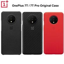 Оригинальный официальный защитный чехол OnePlus 7T 7T Pro, карбоновый песчаник, нейлоновый бампер, силиконовый чехол накладка для 7T/pr