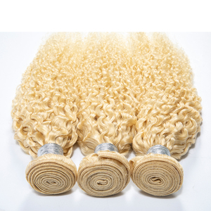Image 2 - ブロンド 613 フロントブラジルレミー人毛織りでバンドル拡張バンドルセール透明レースフロント