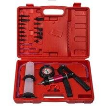 Bomba de pulverización de mano para coche, adaptador de pinza de freno, probador de aceite de depósito, kit de herramientas de inspección para coche