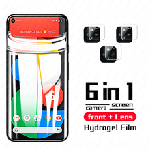 999D Full Curved Hydrogel Film for Google Pixel 5 4a 5g Screen Protector for Google Pixel 4 A Camera Lens Tempered Soft Glass