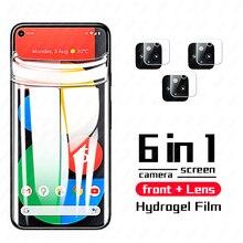 999D 전체 곡선 히드로 겔 필름 Google 픽셀 5 4a 5g 구글 픽셀 4 카메라 렌즈 강화 유리