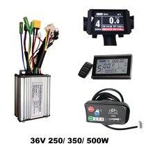Controlador de bicicleta elétrico ebike, controle de bike elétrico e sem escova, modo duplo de engrenagem de 36v 250/350w 500w kt lcd3 lcd8 led880 display