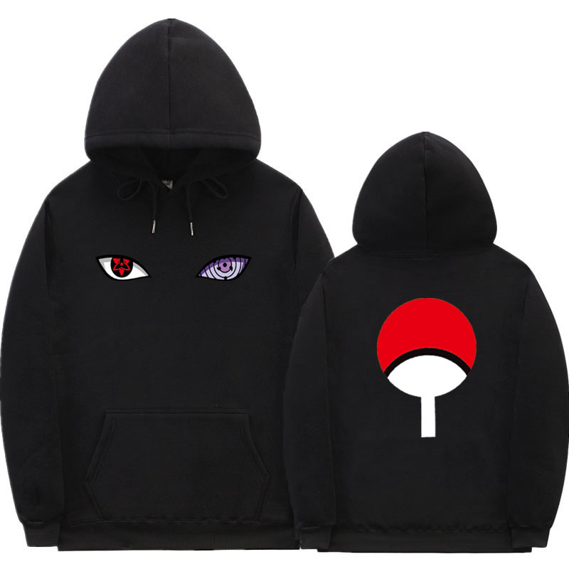 New Japanese Anime Dragon Ball Hoodies Naruto Uchiha Uzumaki Hatake Eyes Harajuku Pullover Sweatshirt Hip Hop Streetwear 1