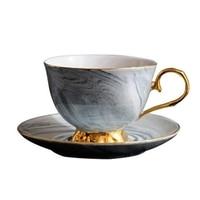 대리석 프놈펜 세라믹 커피 컵과 접시 세트 애프터눈 티 컵 연인 선물|커피웨어 세트|   -