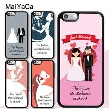 MaiYaCa – étui personnalisé pour robe de mariée et marié, pour iphone 12 mini 11 Pro MAX X XR XS MAX SE 2020 6S 7 8 Plus 5s