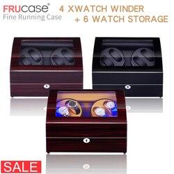 Намотка часов для автоматических часов новая версия 4 + 6 деревянные аксессуары для часов коробка роскошные часы для хранения