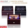 Часы моталки для автоматических часов новая версия 4 + 6 деревянные часы аксессуары коробка часы для хранения Роскошные