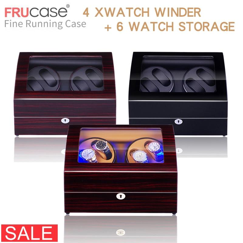 Bobinadora de reloj para relojes automáticos Nueva Versión 4 + 6 accesorios de reloj de madera caja de almacenamiento de relojes de lujo