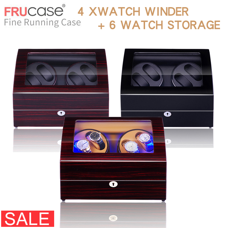 Watch Winder For Automatic Watches New Version 4+6 Wooden Watch Accessories Box  Watches Storage  Luxury