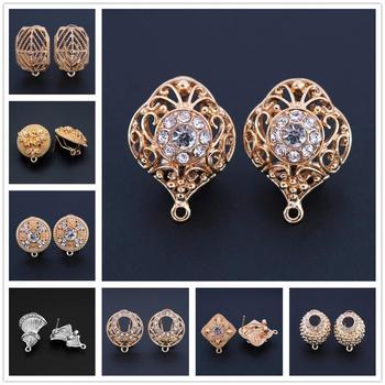 1 Pair African Women Wedding Earrings Connector Linkers Jewelry Accessories for Nigerian Hanging Dangle Earrings set Designs pair of stunning rose wedding earrings jewelry for women