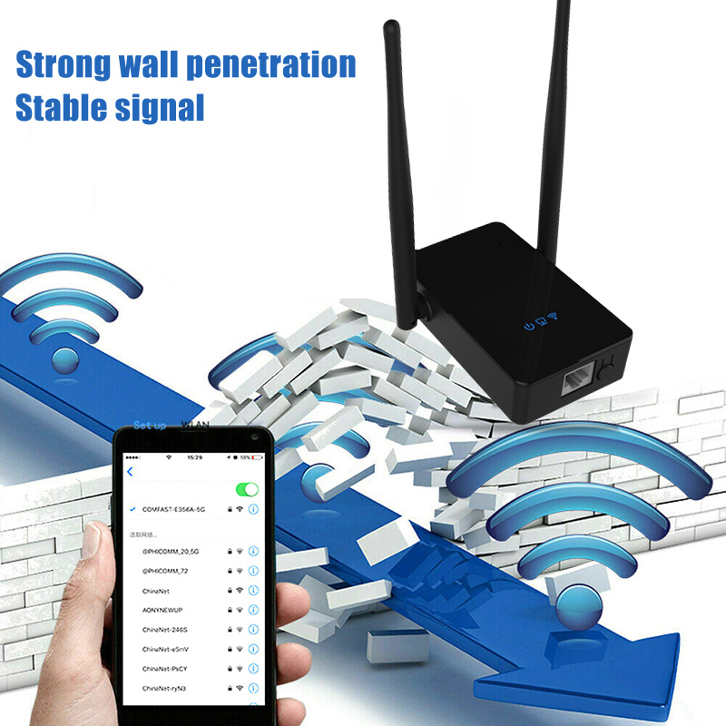 300Mbps WiFi Signal Range Booster Wireless Networks Amplifier Extender Internet Repeater VDX99