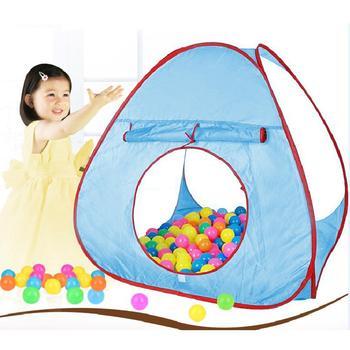 Namiot dla dzieci Ocean Balls namioty do zabawy dom Pit Pool namiot dla dzieci kryty zabawki do zabawy na zewnątrz namiot dla dzieci na zewnątrz gra plażowa namiot dla zabawy tanie i dobre opinie Poliester 2-4 lat Nadmuchiwany basen z piłeczkami Składany