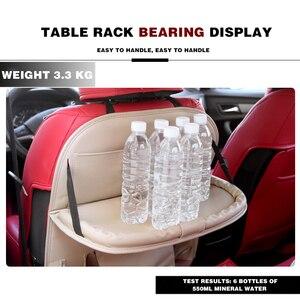 Image 3 - Couro do plutônio saco de almofada assento de carro volta organizador dobrável mesa bandeja de armazenamento de viagem dobrável mesa de jantar assento de carro saco de armazenamento