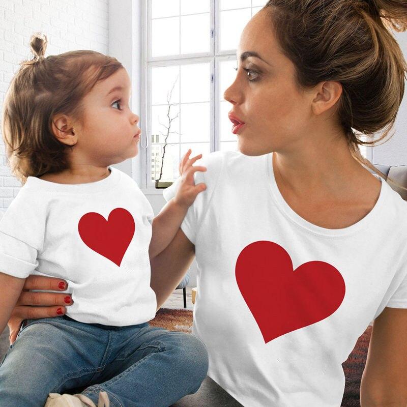 Новая семейная футболка с принтом Одежда «Мама и я» Семейные комплекты с короткими рукавами QT-1924 - Цвет: Темно-серый