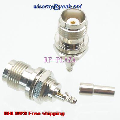 DHL/EMS 200pcs Connector TNC Female Jack Bulkhead Crimp RG174 RG316 LMR100 Cable Round -A3