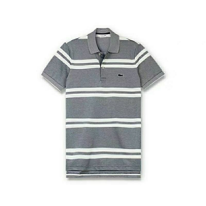 Lacoste Men Polo Shirt 2019 Casual Striped Short Sleeves Brand Clothing Breathable Anti-Wrinkle Business Tops Tee polo hombre