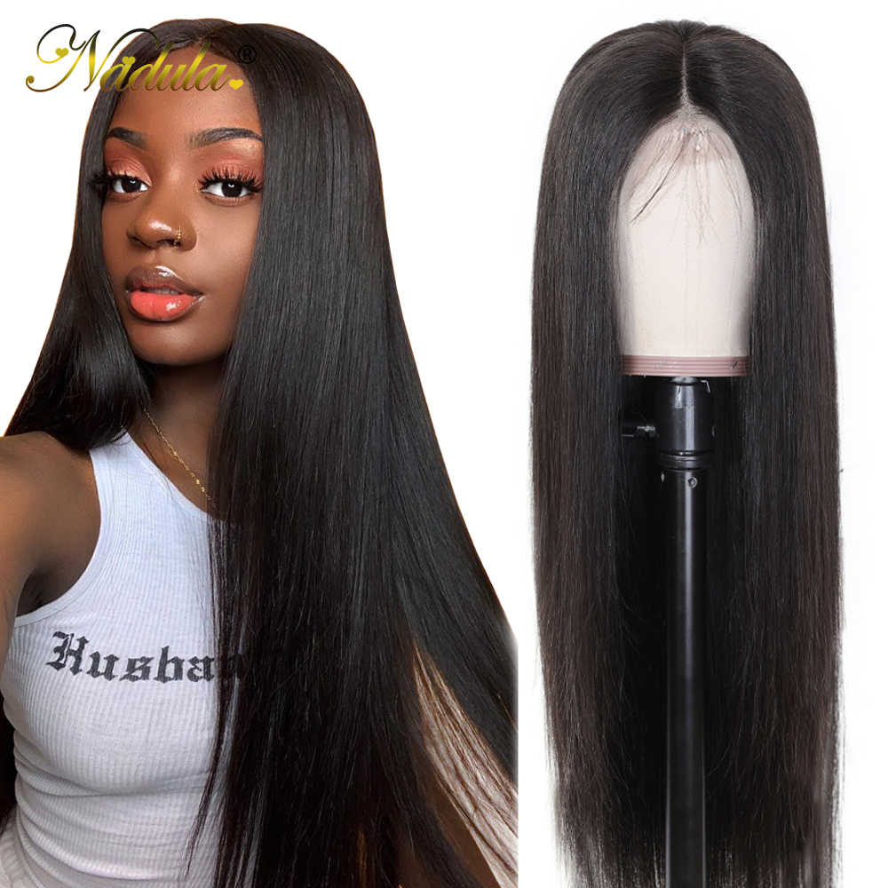 Nadula Hair 13*4/6 Lace Front Human Hair Wigs Pre Plucked Brazilian Remy Hair Lace Wig Straight Lace Front Wig black friday deal