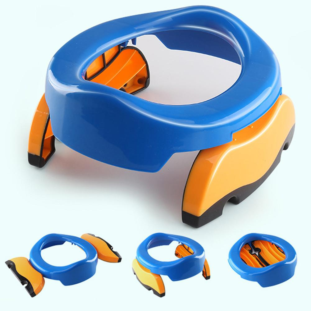 2019 New Portable Baby Infant Chamber Pot Toilet Training Seat Potty Ring With Urine Bags Infant Toilet Training Folding Seat