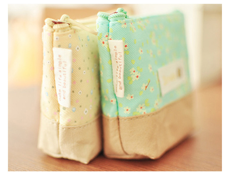 Korean-style Creative Small Flowers Fresh Purse Coin Bag Small Objects Storage Fabric Purse Ten Yuan Store Supply Of Goods