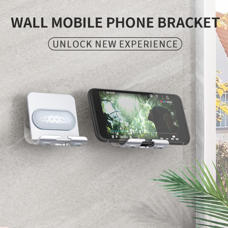 Support de support de téléphone portable support de tablette universel pour Iphone Samsung Xiaomi support de montage mural pour salle de bain toilette chevet mur