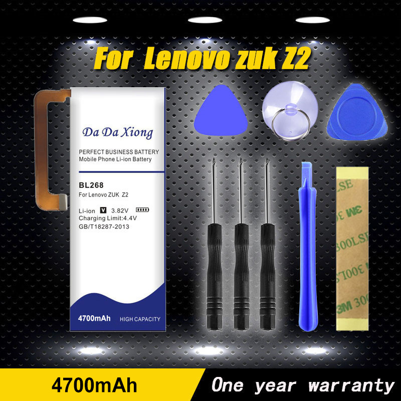 Da bateria da xiong 4700 mah bl268 para a bateria do telefone de lenovo zuk z2 z2131