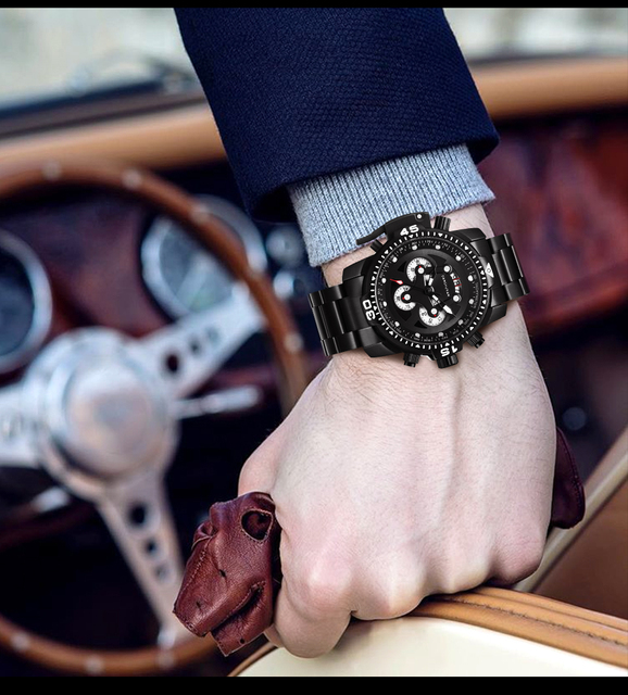 Top Brand Luxury Fashion Men Watches Quartz Watch Men Business Military Chronograph Wristwatch Relogio Masculino erkek kol saati 6