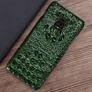 Image 4 - Coque de téléphone en cuir pour Xiaomi Redmi Note 9 S 8 7 6 5 K30 Mi 9 se 9T 10 Lite A3 Mix 2s Max 3 Poco F1 X2 X3 F2 Pro tête de Crocodile