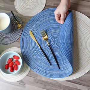 Table Mats Coasters Hot Pad  Round Table Mat Stand for Mugs  Anti Slip Drink Insulated  Placemats Kitchen Furniture Doily