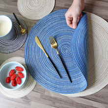 Table Mats Coasters Hot Pad Round Table Mat Stand for Mugs Anti Slip Drink Insulated Placemats Kitchen Furniture Doily(China)