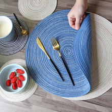 Manteles posavasos almohadilla caliente Mesa Redonda estera soporte para tazas Anti deslizante bebidas aislantes manteles muebles de cocina tapete