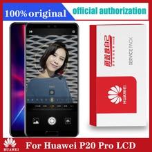 Original 6.1 จอแสดงผลสำหรับHuawei P20 Proหน้าจอสัมผัสLCD Digitizer + ลายนิ้วมือCLT L09 CLT L29 CLT AL01