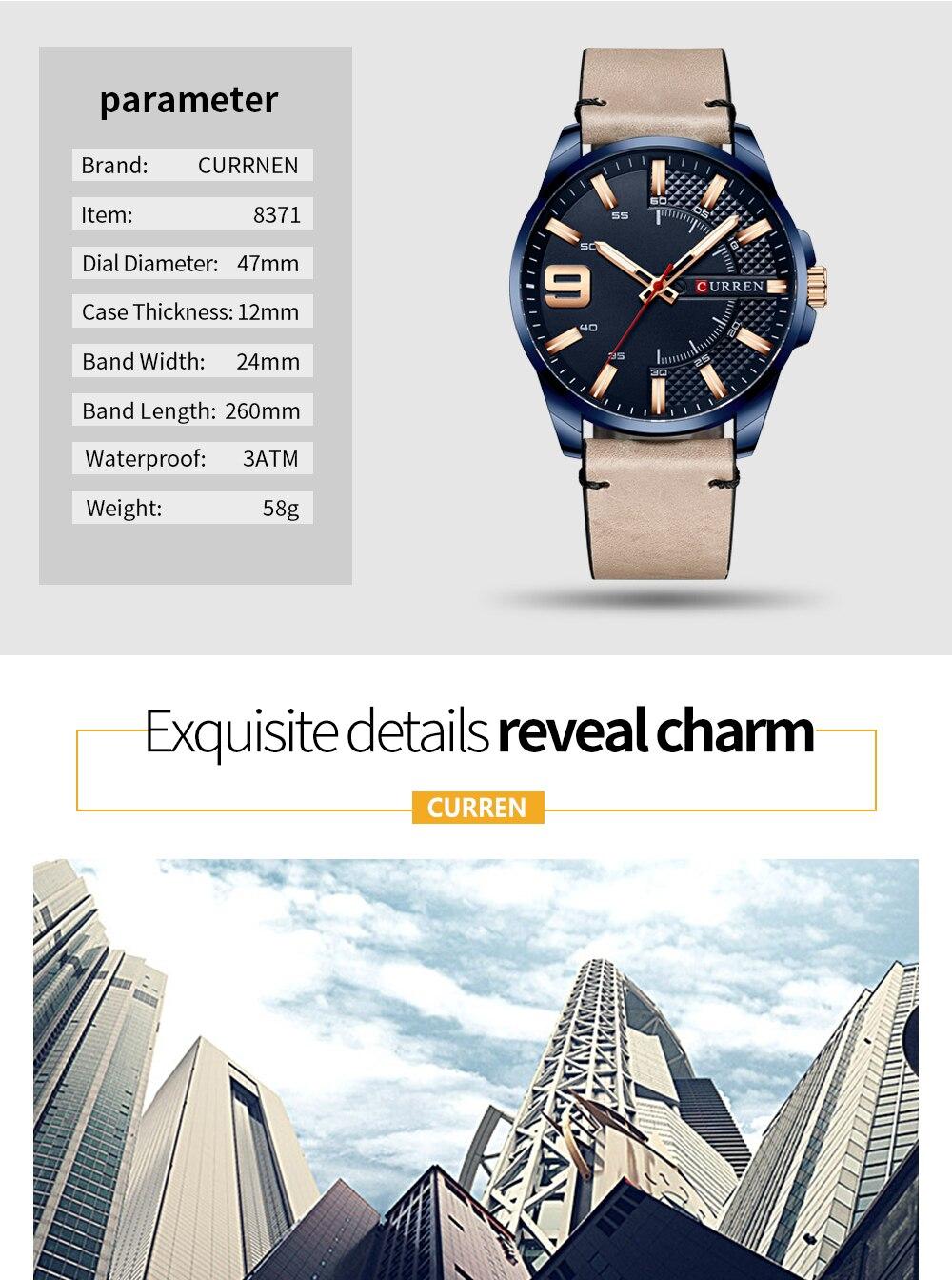 Hd827bb384d6342da9e33c0777aa476bfI Top Brand Luxury Business Watch Men CURREN Watches