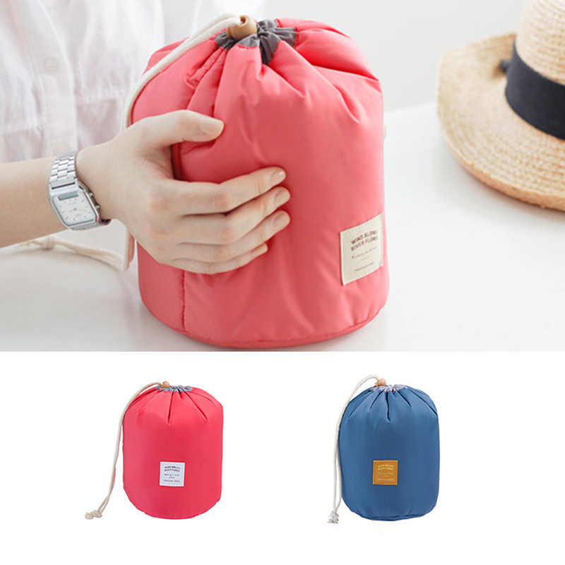 Travel Cylinder Large Capacity Waterproof Cosmetic Bag Girl Portable Wash Bag Cosmetic Bag Household Storage Appliance