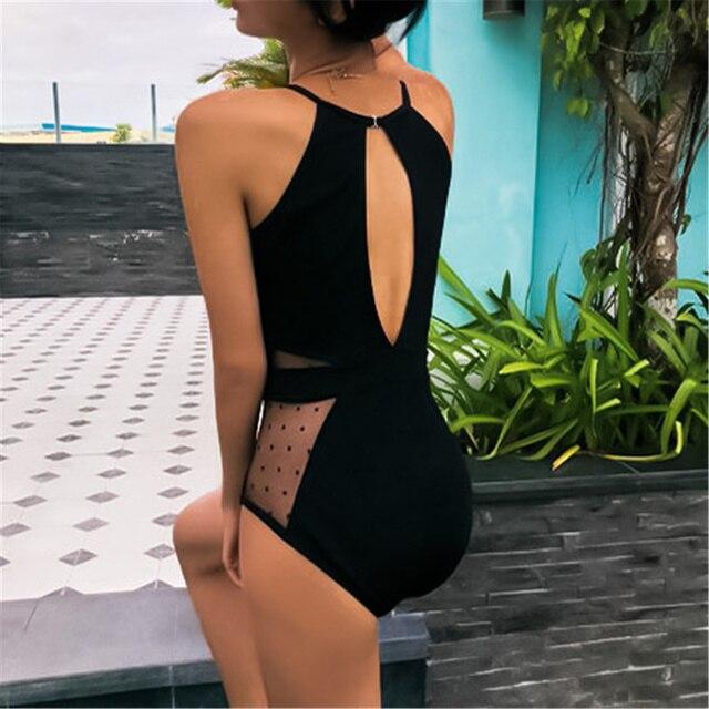 Deep V Mesh Swimsuit