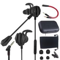 Игровая гарнитура 3,5 мм Jack E-Sports наушники геймер шумоподавление стерео проводные наушники со съемным микрофоном для телефона ПК PS4 MP4