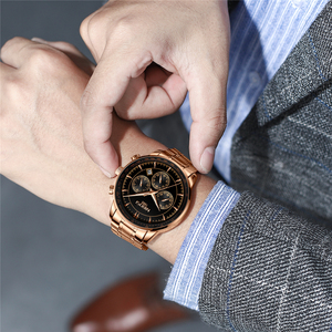 Image 5 - Relogio Masculino NIBOSI marque nouvelle mode hommes montres Top marque de luxe étanche Quartz montre hommes grand cadran affaires hommes montre