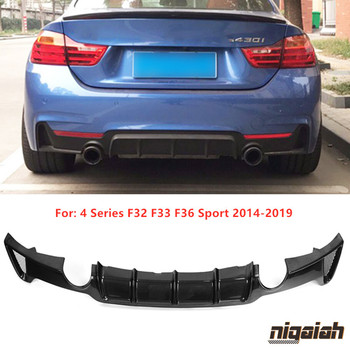 F32 Carbon Fiber Rear Lip Diffuser Spoiler for BMW F32 F33 F36 Sport 420i 428i 435i 2014-2019 Rear Bumper Protector MP Style image