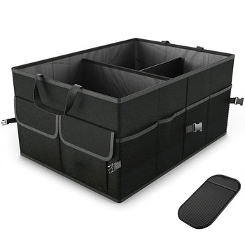 2020 New Hot Fashion 1pcs Trunk Cargo Organizer Folding Caddy Storage Collapse Bag Bin for Car Truck SUV image