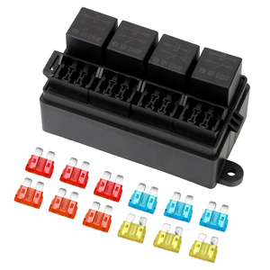 Image 4 - Fuse 12 Way Blade Fuse Holder Box with Spade Terminals 4Pin 12V 40A Relays for Auto Car Truck Trailer Plastic Cover