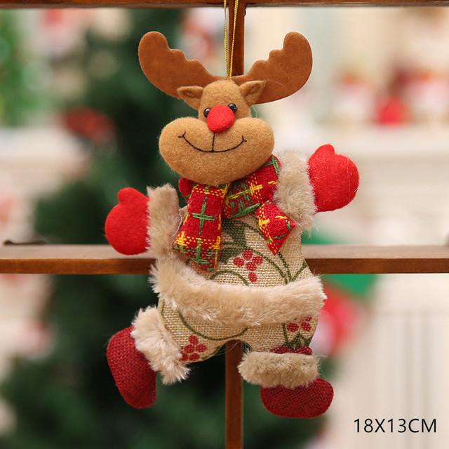 New Year 2020 Cute Santa Claus/Snowman/Angel Christmas Dolls Noel Christmas Tree Decoration for Home Xmas Navidad 2019 Kids Gift 40