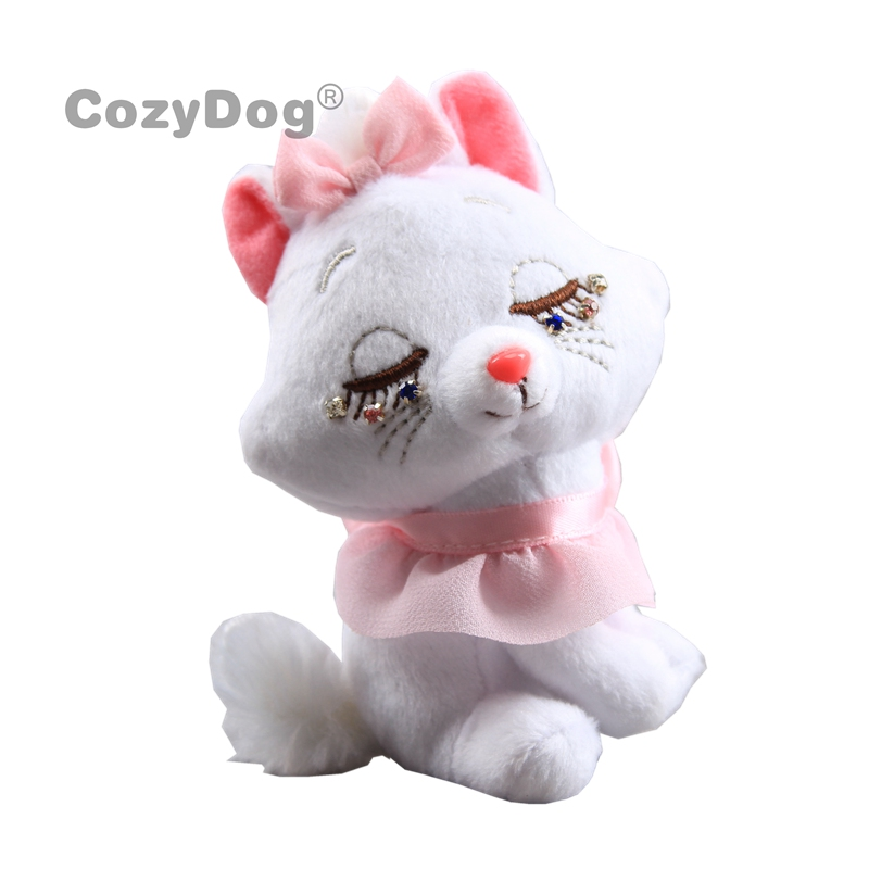 10cm New Aristocats Cat Plush Toys Cute Pink Marie Cat Stuffed Animals Toys Doll Peluche Keychain Women Kids Birthday Gift