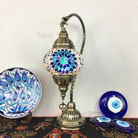 Morocco Table Lamp Retro romantic night lamp bedroom Restaurant Bar Turkish hand made glass table lamp