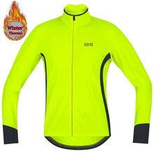 Мужская Зимняя Термальная флисовая велосипедная спортивная одежда с длинным рукавом, теплая спортивная одежда для гонок, езды на велосипеде, Джерси, не водонепроницаемая