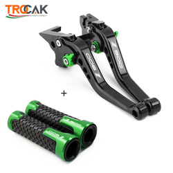 Motorcycle Short Adjustable Brake Clutch Levers & handlebar handle grips For KAWASAKI Z900 Z 900 2017-2020 2018 2019 2020